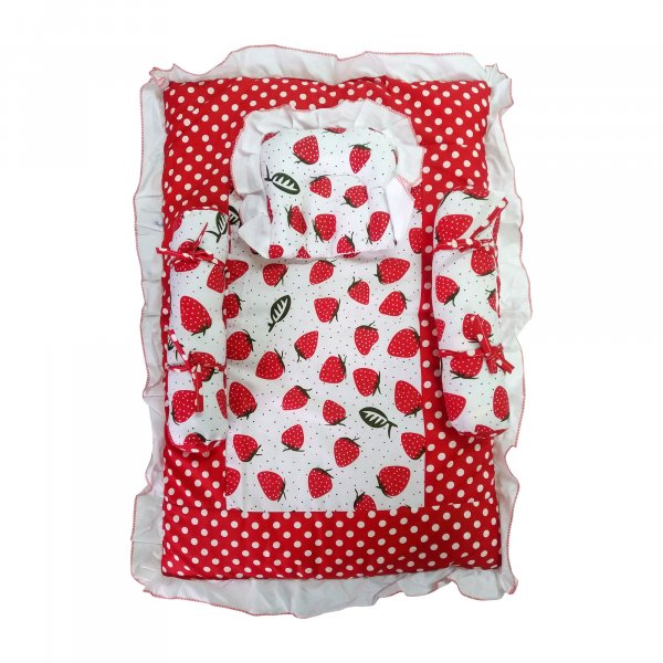 4pc Bedding Set for infant - 647 Red P6
