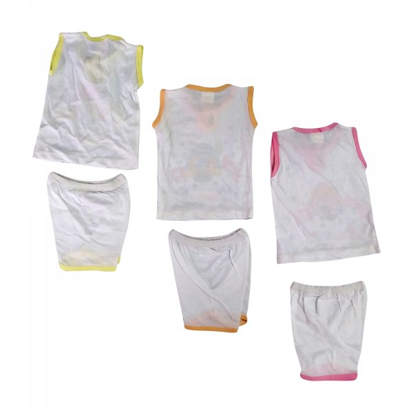 Basisc 3 Cotton Hosiery Shirt With 3 Pant Set  - BC10