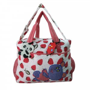 Cloth bag with fruit printed - Strawberry  - DBB14 Red P5