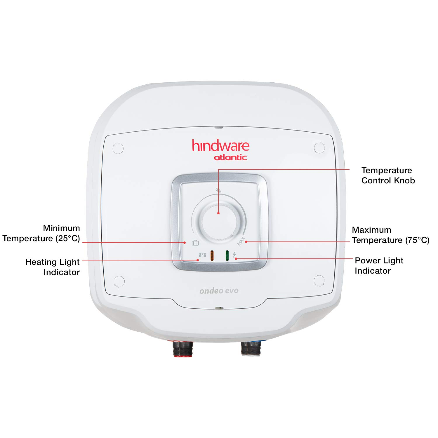 Hindware Atlantic Ondeo Pure 15 Litre Storage Geyser (Free Installation, 5-Star BEE Rating, 2kW)