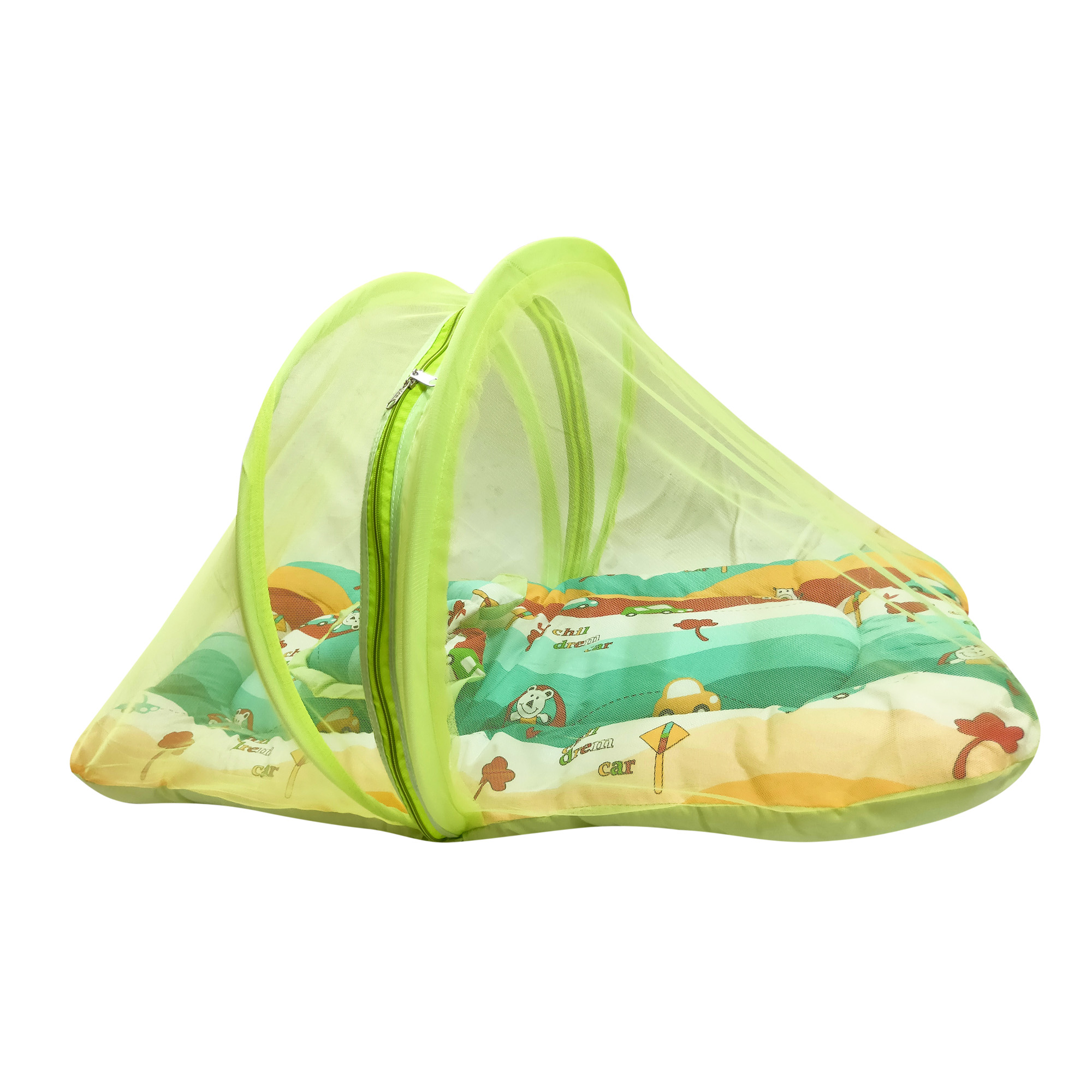Imported Cotton Mosquito Net Set Medium 0 to 24 months from Love Baby - ST30 Green P10