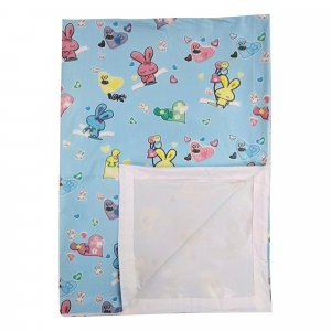 Imported Soft Bed Sheet Plastic from Love Baby - 713 C Blue P9