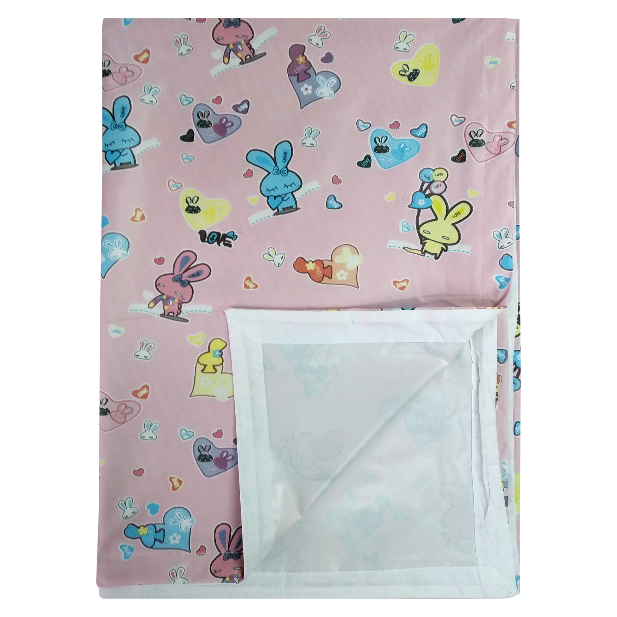Imported Soft Bed Sheet Plastic from Love Baby - 713 C Pink P9