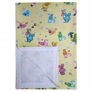 Imported Soft Bed Sheet Plastic from Love Baby - 713 C Yellow P9