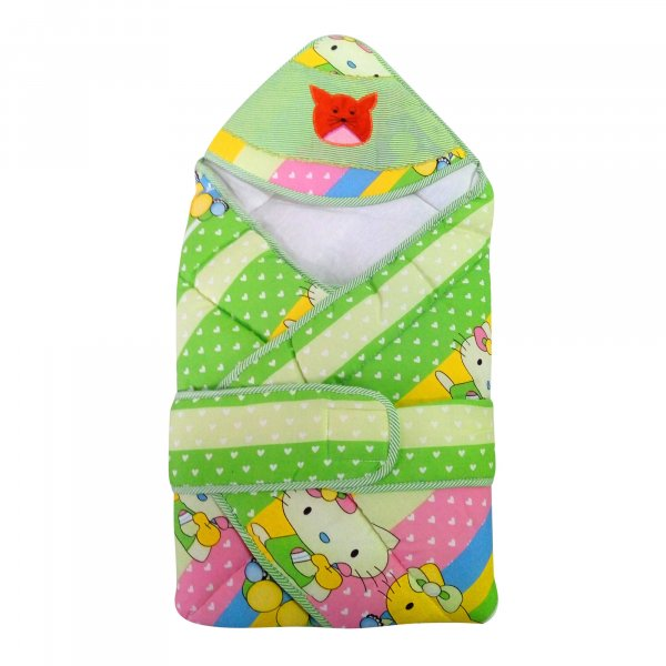 Love Baby Cotton Bath Dryrobe cum Blanket - 565 Green P5