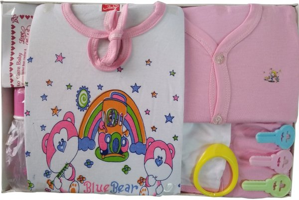 New Born Baby Gift Set Pink Big Love House Pink