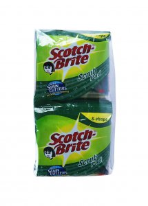 "SCOTCH BRITE SCRUB PAD 3""""X4"""" PACK OF 12"