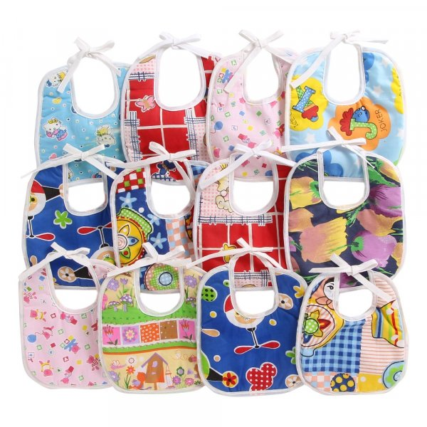 Set of 12 Cotton Assorted Pint Bibs - 603 Combo D 603 Combo P12