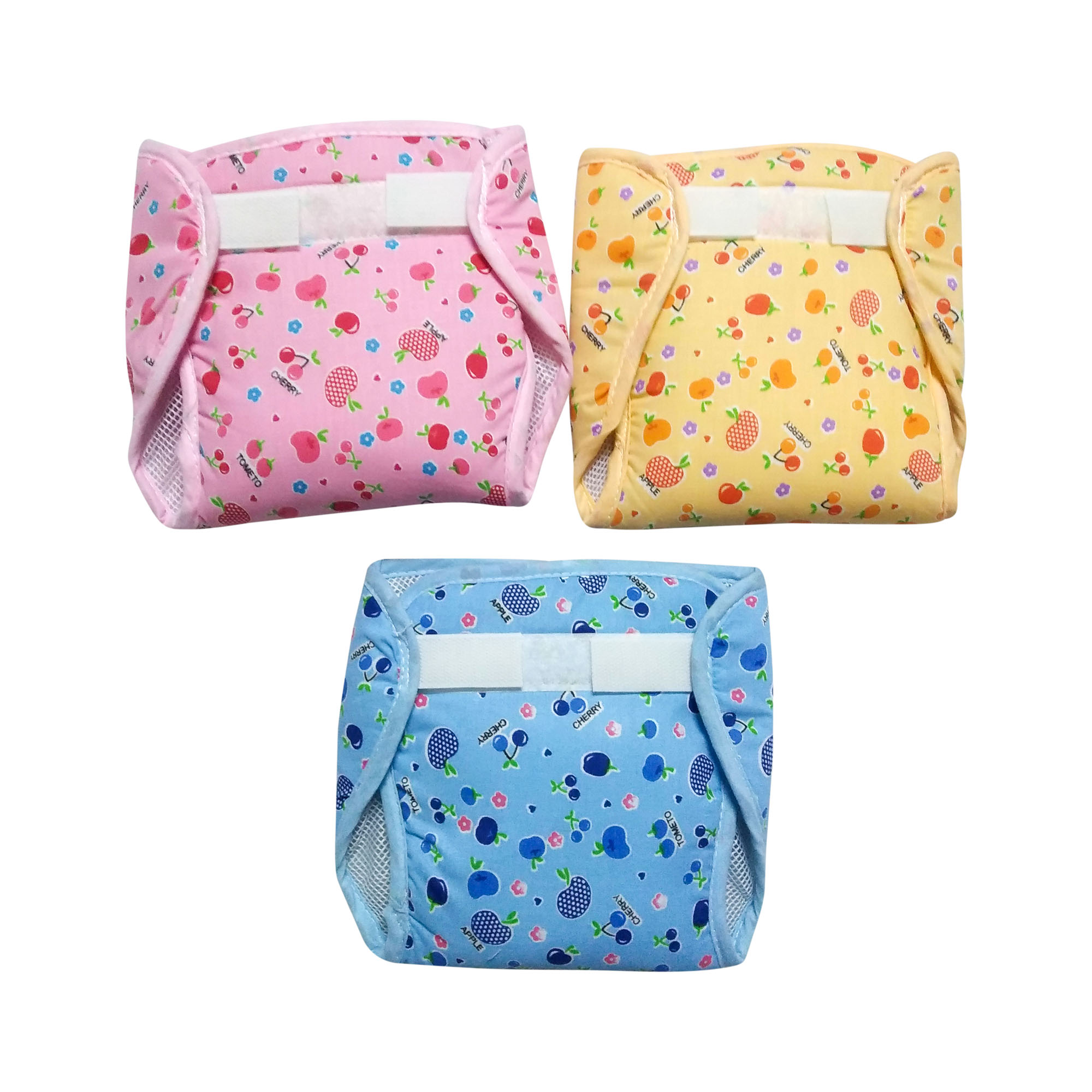 Set of 3 Assorted Net Diaper by Love Baby - 537 L Combo P5