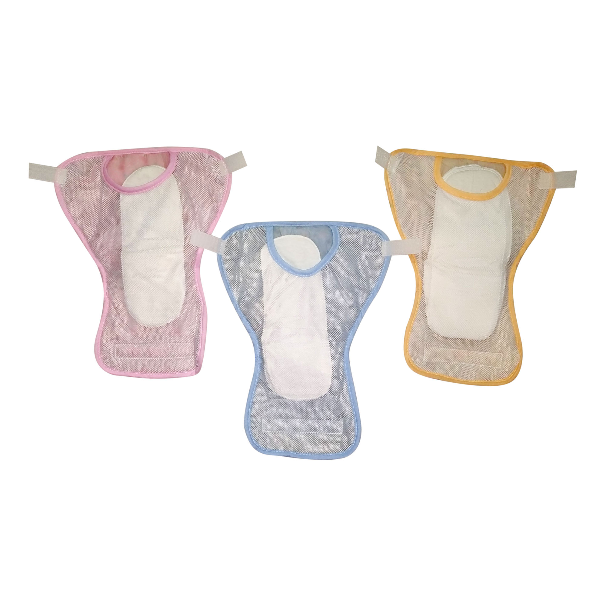 Set of 3 Assorted Net Diaper by Love Baby - 537 S Combo P5