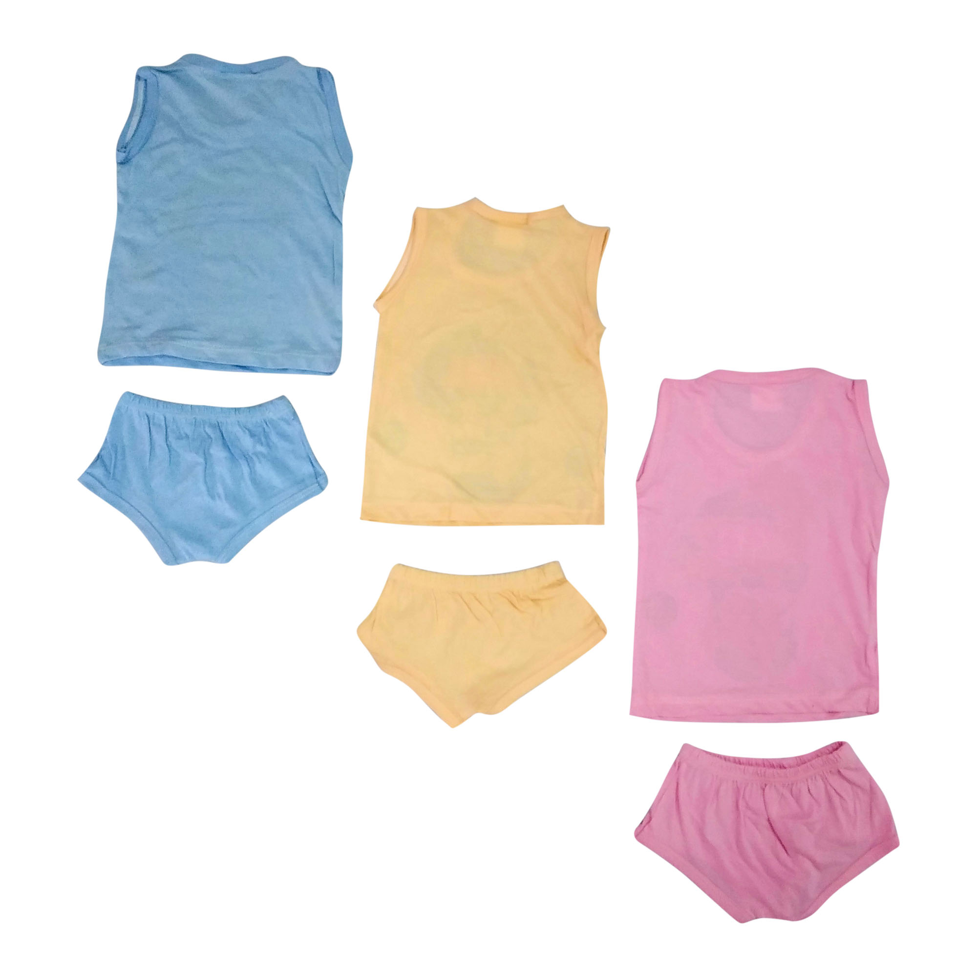 Trendy 3 Cotton Hosiery Shirt With 3 Pant Set - BC12